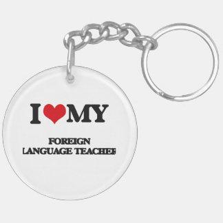 Amo a mi profesor del idioma extranjero llaveros