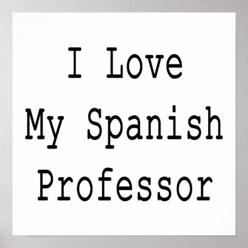 Amo a mi profesor español póster