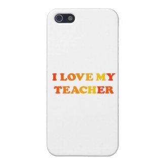 Amo a mi profesor iPhone 5 carcasas