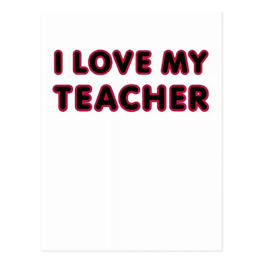 Amo a mi profesor (gracias) postales