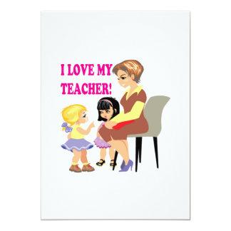 """Amo a mi profesor invitación 5"""" x 7"""""""