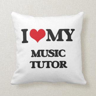 Amo a mi profesor particular de la música almohada