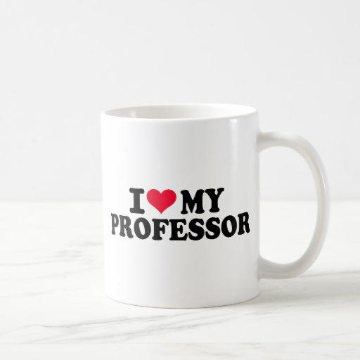 Amo a mi profesor taza básica blanca