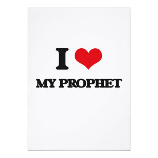 Amo a mi profeta invitación 12,7 x 17,8 cm