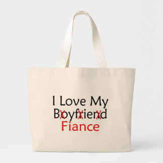Amo a mi prometido bolsa tela grande