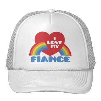 Amo a mi prometido gorras de camionero