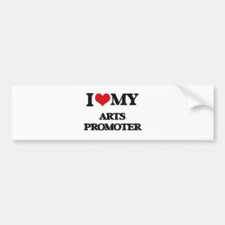 Amo a mi promotor de los artes etiqueta de parachoque