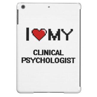 Amo a mi psicólogo clínico funda para iPad air