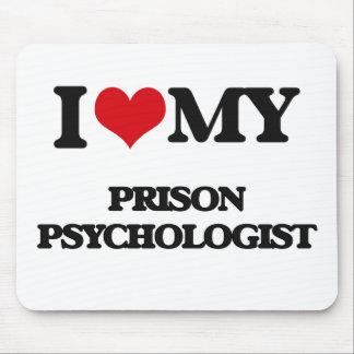 Amo a mi psicólogo de la prisión alfombrillas de ratón