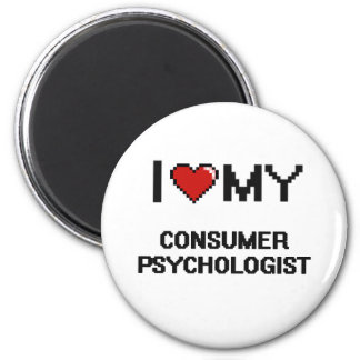Amo a mi psicólogo del consumidor imán redondo 5 cm