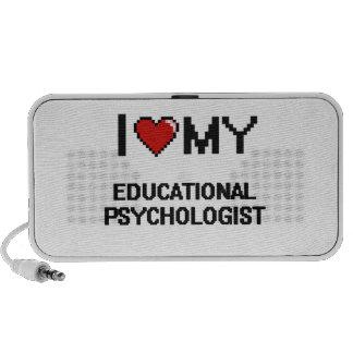 Amo a mi psicólogo educativo laptop altavoces