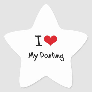 Amo a mi querido pegatinas forma de estrellaes personalizadas