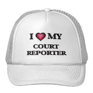 Amo a mi reportero de corte gorras