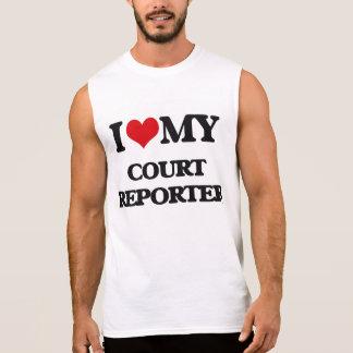 Amo a mi reportero de corte camiseta sin mangas