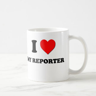 Amo a mi reportero tazas