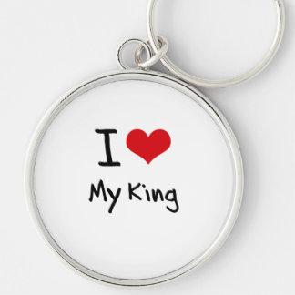 Amo a mi rey llavero personalizado