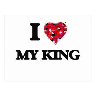 Amo a mi rey postales