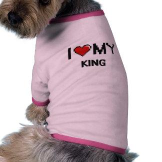 Amo a mi rey camiseta con mangas para perro