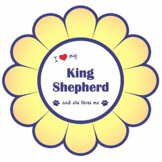 Amo a mi rey Shepherd el perro femenino Escultura Fotográfica
