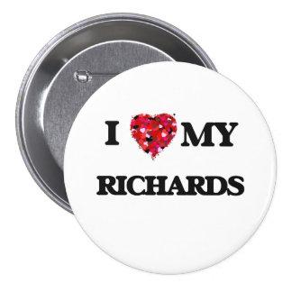 Amo a MI Richards Pin Redondo 7 Cm