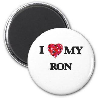 Amo a mi Ron Imán Redondo 5 Cm