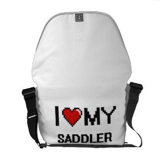 Amo a mi Saddler Bolsas De Mensajería