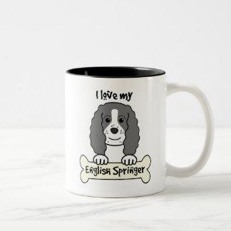 Amo a mi saltador inglés tazas de café