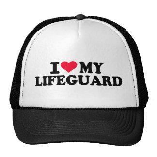 Amo a mi salvavidas gorras de camionero