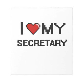 Amo a mi secretaria libreta para notas