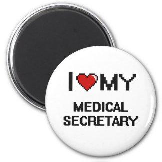 Amo a mi secretaria médica imán redondo 5 cm