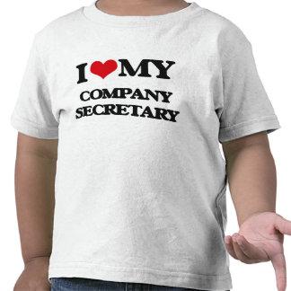 Amo a mi secretario de la empresa camisetas