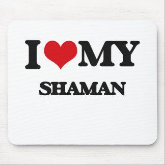 Amo a mi Shaman Tapetes De Raton