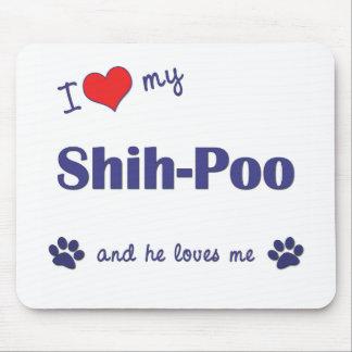 Amo a mi Shih-Poo (el perro masculino) Alfombrillas De Raton