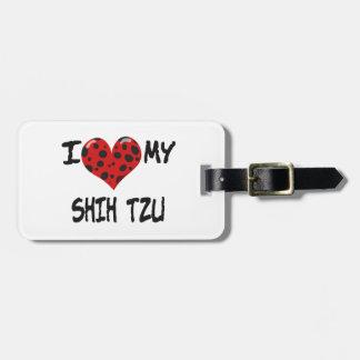 Amo a mi Shih Tzu Etiquetas Maleta