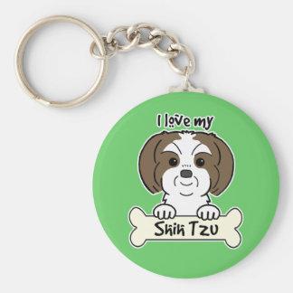Amo a mi Shih Tzu Llavero Personalizado