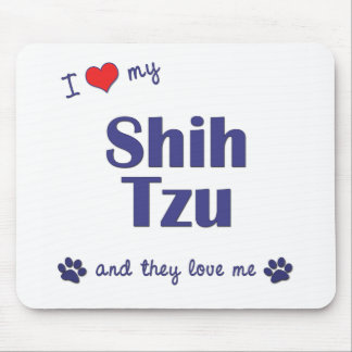 Amo a mi Shih Tzu (los perros múltiples) Tapete De Raton