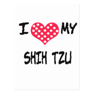 Amo a mi Shih Tzu Tarjetas Postales