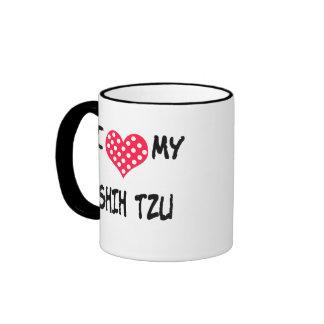 Amo a mi Shih Tzu Taza A Dos Colores