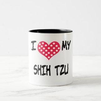 Amo a mi Shih Tzu Taza Dos Tonos
