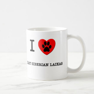 AMO A MI SIBERIANO DEL ESTE LAIKAS TAZA DE CAFÉ