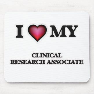 Amo a mi socio de investigación clínico mousepads