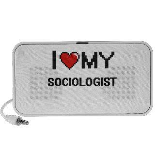 Amo a mi sociólogo laptop altavoz