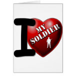 Amo a mi soldado felicitaciones