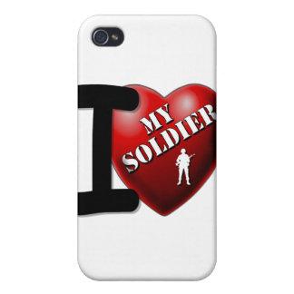 Amo a mi soldado iPhone 4/4S funda