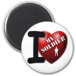 Amo a mi soldado imán para frigorífico