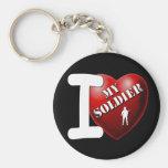 Amo a mi soldado llaveros