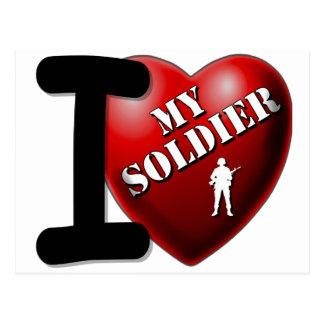 Amo a mi soldado postales