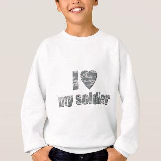 Amo a mi soldado sudadera