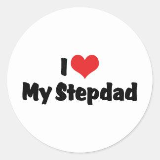 Amo a mi Stepdad Pegatina Redonda