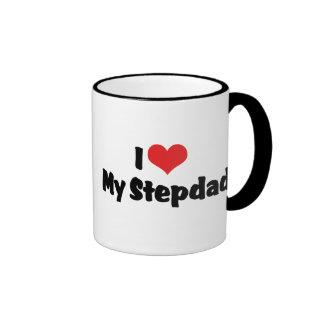 Amo a mi Stepdad Taza De Dos Colores